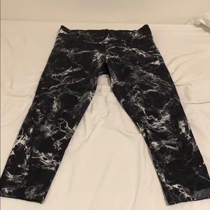 Pink Victoria secret black marble leggings